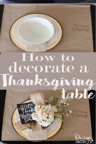 How to decorate thanksgiving