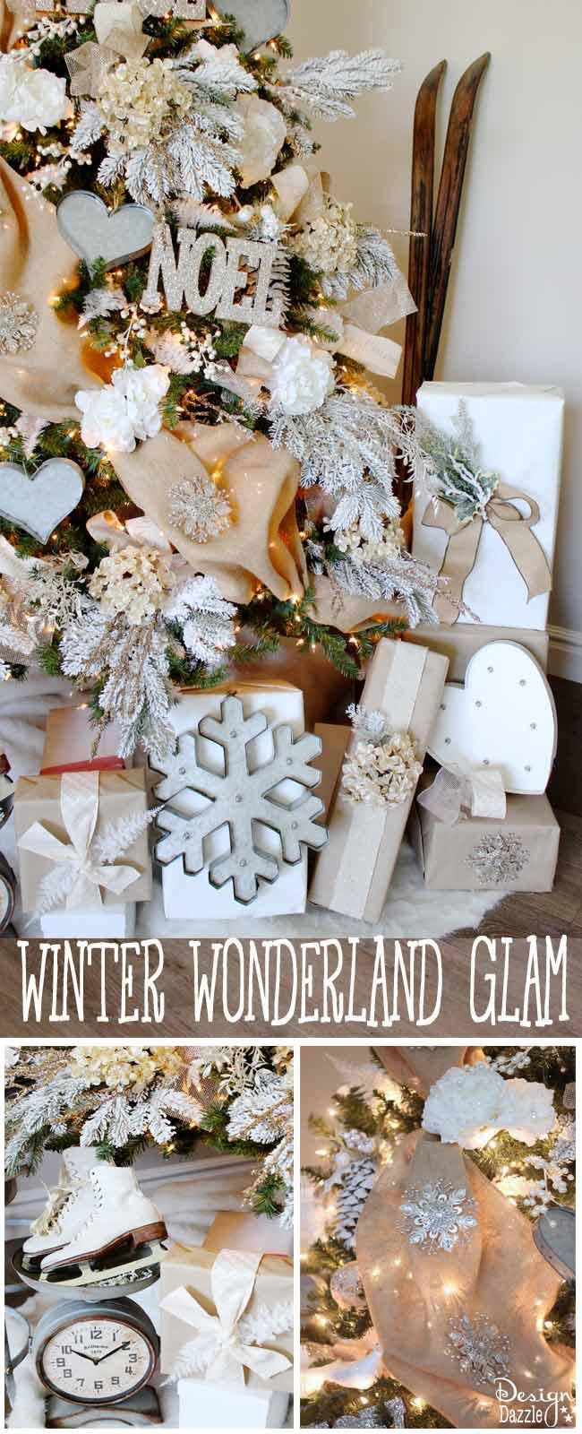 Winter Wonderland Glam Christmas Tree idea by Toni Roberts