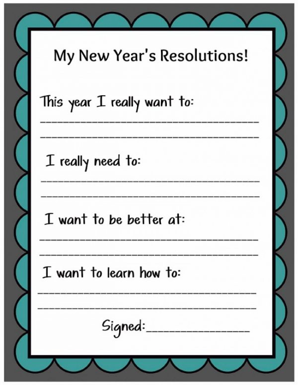 new years resolution essay assignment