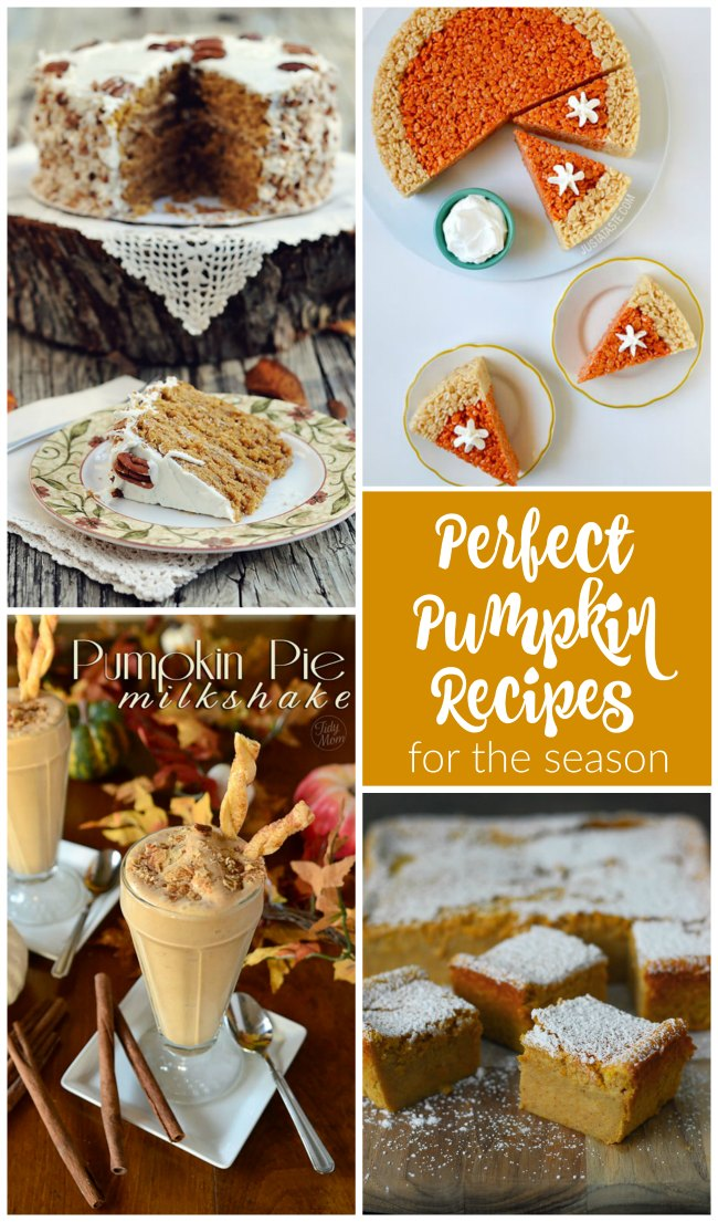 Delicious and perfect pumpkin recipes for the season that are sure to please!