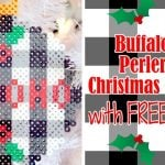 Buffalo Check Perler Bead Christmas Ornaments