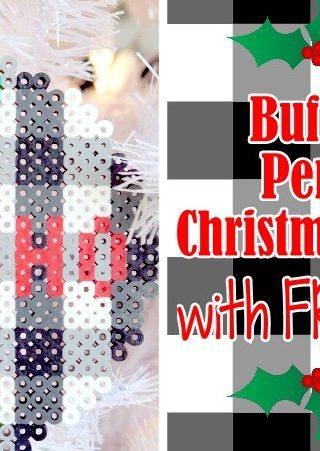 Buffalo Check Perler Bead Christmas Ornaments