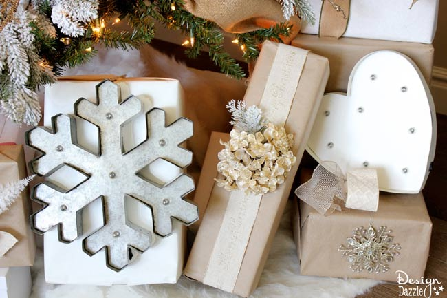 Winter Wonderland Glam presents. Tree designed by Toni Roberts of Design Dazzle