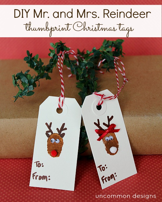 christmas ideas for kids - reindeer tags