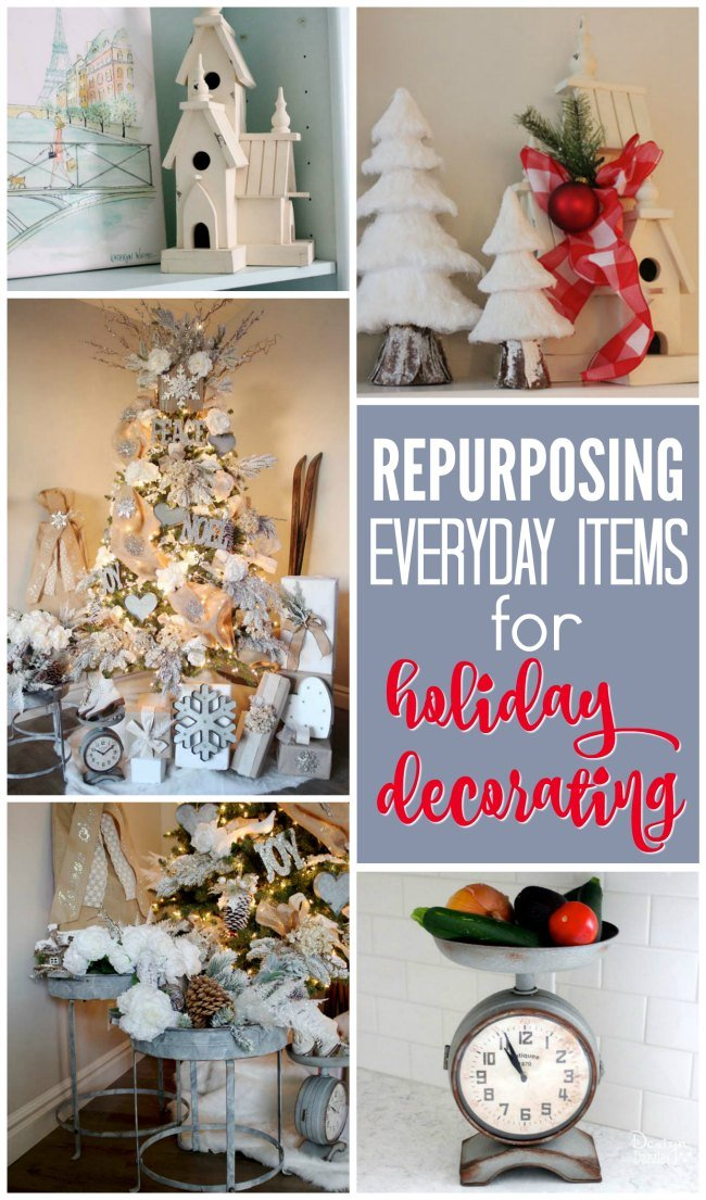 Repurposing everyday items for your holiday decor makes decorating so much easier and more affordable!