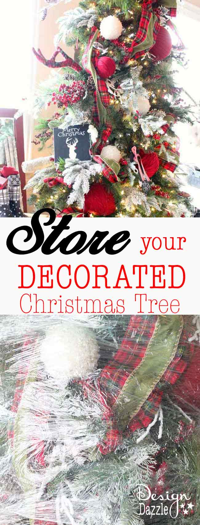 Store Your Decorated Christmas Tree