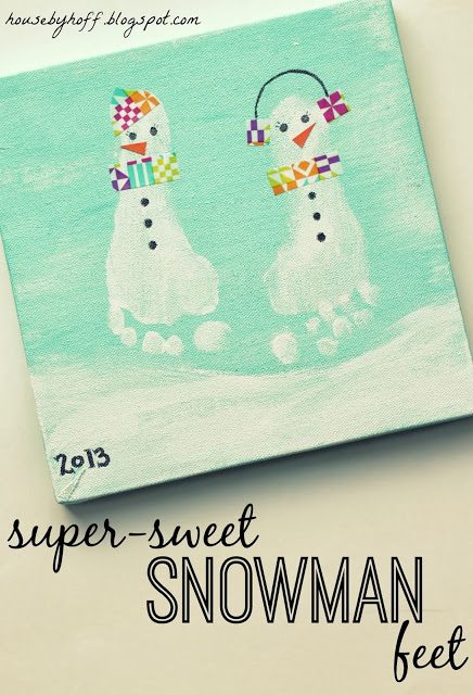 Sweet Snowman Feet! DIY Christmas Craft for kids that will help you always remember how sweet those feet are!