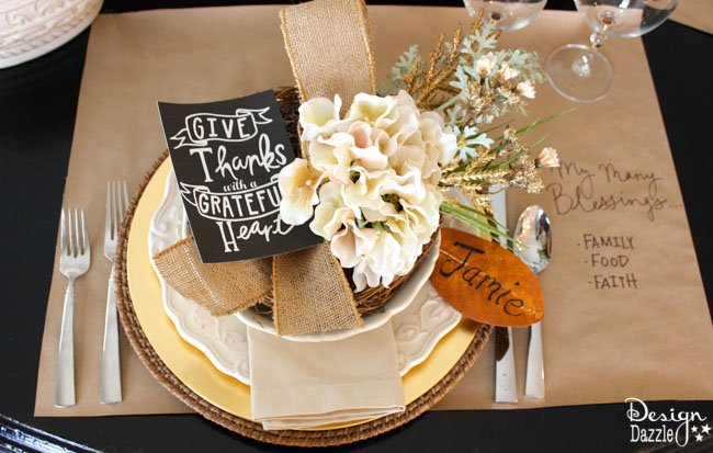 Grateful Tablescape by Toni Roberts