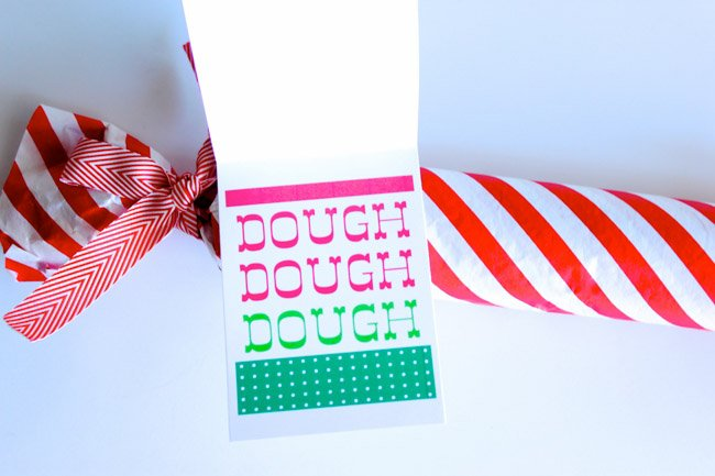 HO, HO, HO (inside reads) DOUGH, DOUGH, DOUGH DIY Gifts For Your Favorite Teachers and Neighbors + Free Printables