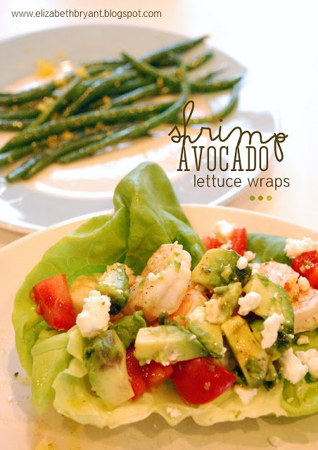 Mouth watering Shrimp Avocado Lettuce Wraps! Healthy Dinner Recipes!