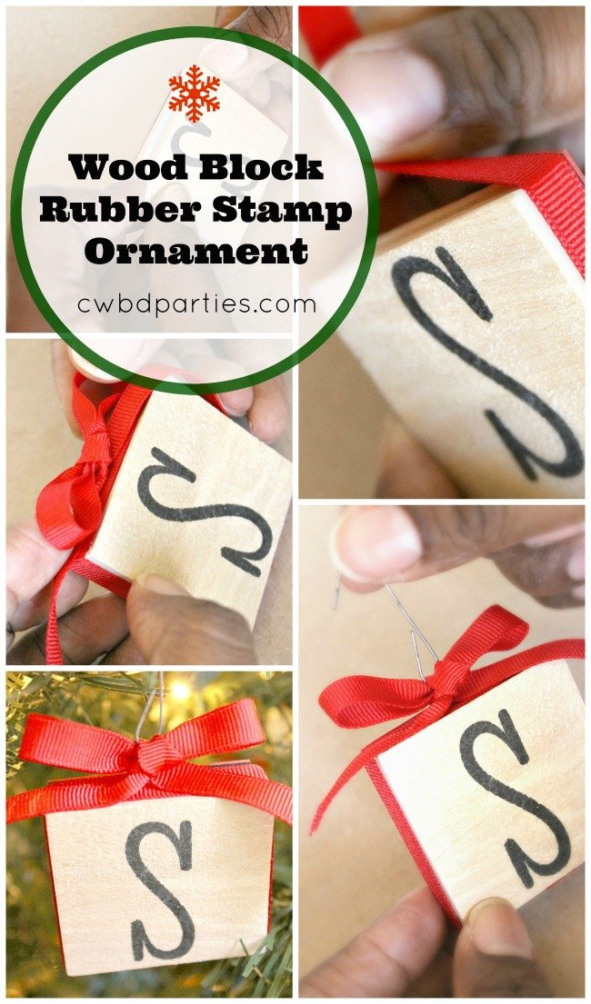 Make an ornament from a monogram rubber stamp