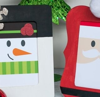 Santa and Snowman Frame Christmas Decor