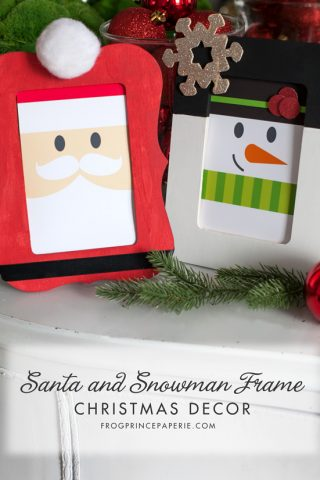 Santa and Snowman Christmas Frame