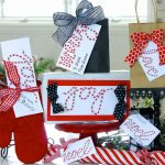 Candy Striped Christmas Gift Tags