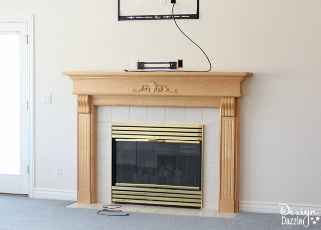 Fireplace Remodel: Before and After www.designdazzle.com