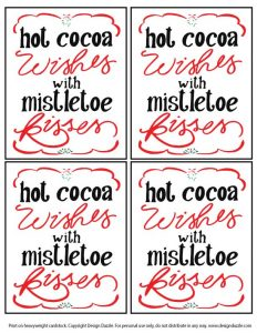 Hot Cocoa Wishes printable