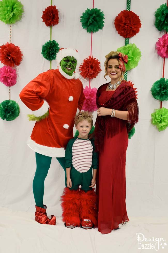 Looking for cheap, easy, DIY decor for a Grinch party? Design Dazzle gives tips and tricks! | holiday party ideas | grinch themed holiday party | grinch Christmas party | budget party ideas || Design Dazzle #grinchparty #grinchdecor #christmaspartyideas