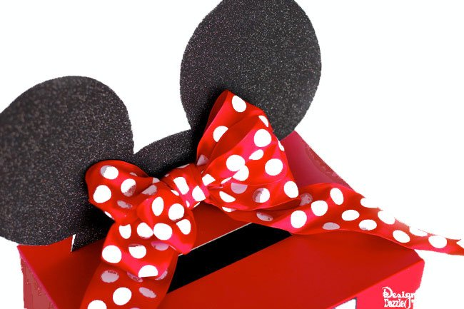 Mickey and Minnie Mouse Valentine Card Box  Free Printable