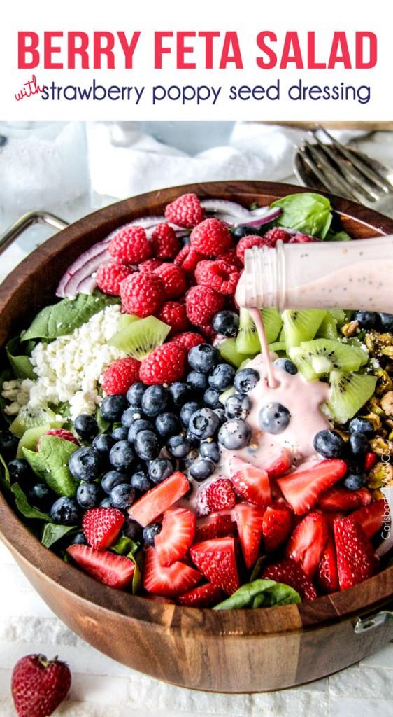 Berry Feta Salad from Carlsbad Cravings.