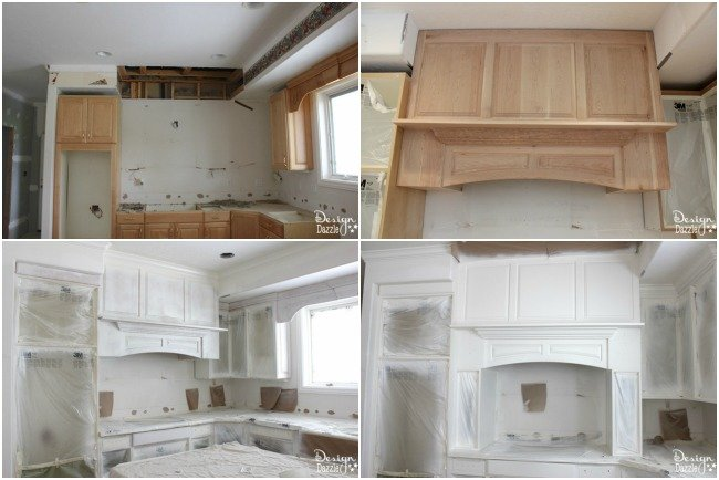 Custom Hood Collage - Kitchen Remodel During www.DesignDazzle.com