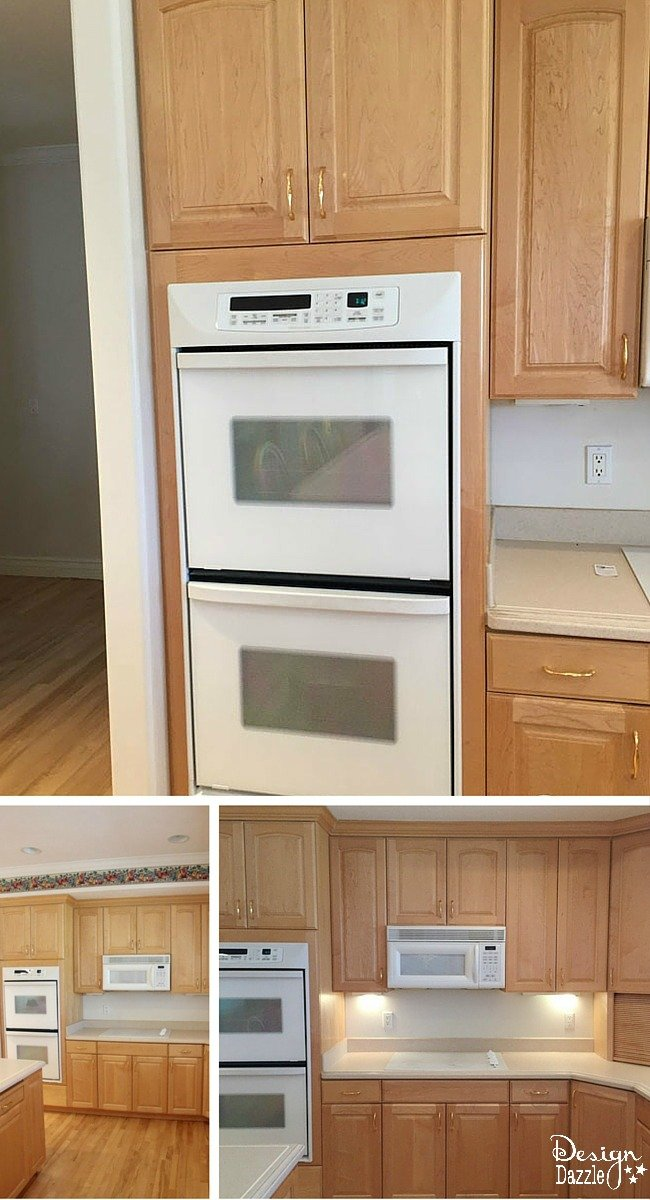 Kitchen remodel before for Kitchen designs microwave