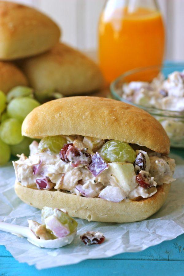 Greek Yogurt Chicken Salad Sandwich from Damn Delicious. Greek Yogurt is a perfect substitute.