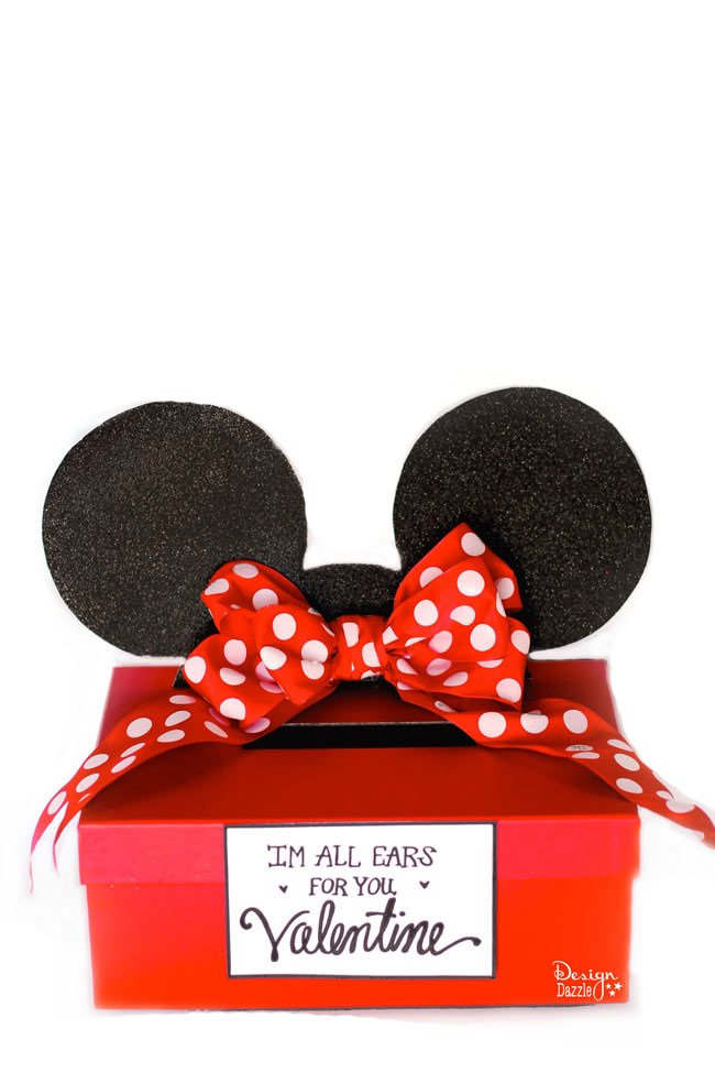 Mickey and Minnie Mouse Valentine Card Box Free Printable – Boxed Valentines Day Cards
