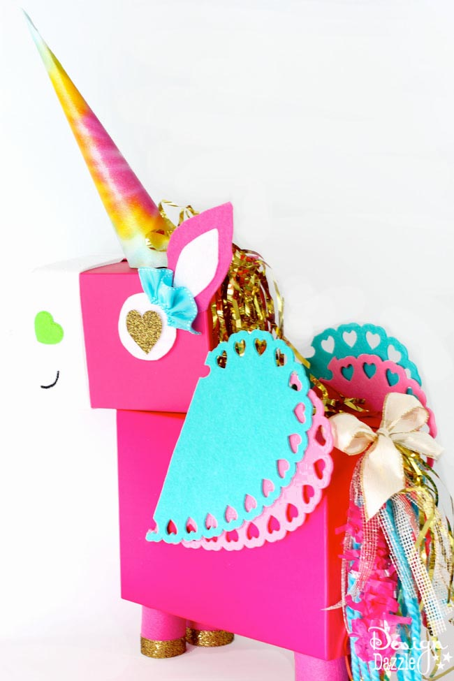 Unicorn Valentine's Day Card Box by Toni Roberts