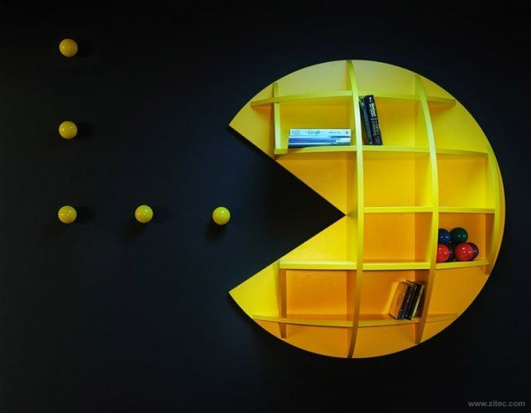 Pacman Bookshelf  Perfect For Gaming Storage!