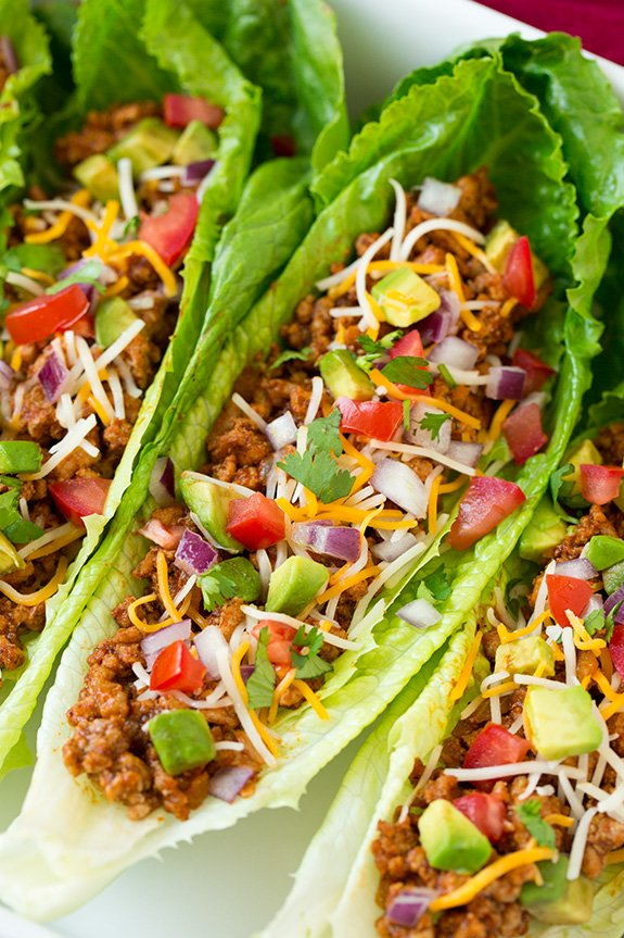 Turkey Taco Lettuce Wraps from Cooking Classy. Delicious and will leave you feeling so good!