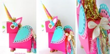 Unicorn Valentine Box holder - sl