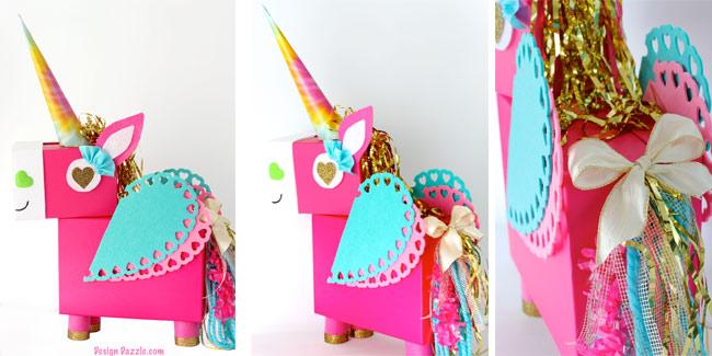 Unicorn Valentine Box holder - sl