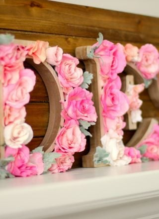 DIY: Rustic Letters With Flowers