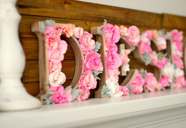 DIY: Rustic Letters With Flowers - Design Dazzle