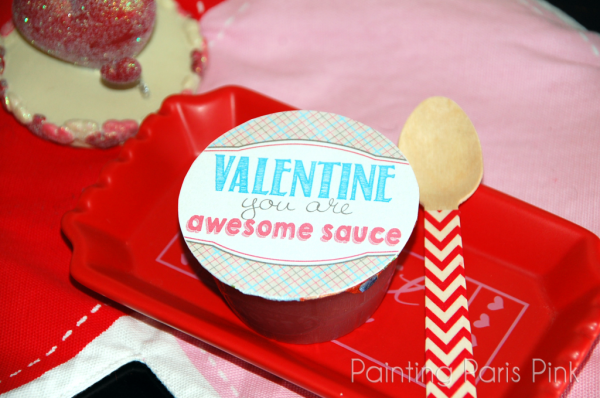 Awesome Sauce Valentines with applesauce. Perfect non candy Valentine for a class party!