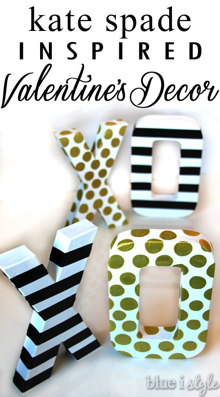 Kate Spade Inspired Valentine's Day Decor. Darling XOXO sign that is easy and a great DIY project!