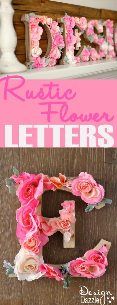 Rustic Flower Letters | Design Dazzle