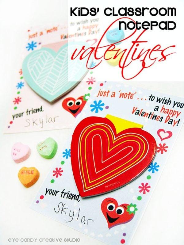 Valentine Notepad for Classroom Valentine! FREE PRINTABLE!!