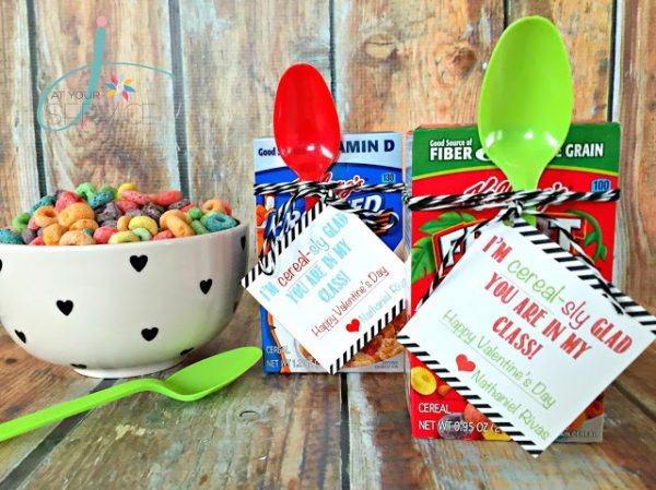 DIY Valentine Ideas: I'm CEREAL-sly Glad You Are In My Class! Creative Valentine for Kids!