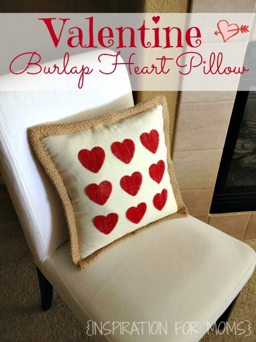 No-sew DIY Valentine Heart Pillow that is the perfect finishing detail for your Valentine home!
