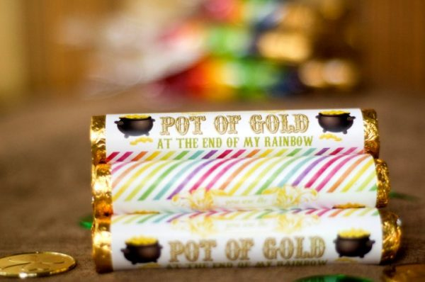 Printable Pot of gold label for Rolo Candy. Great little gift for St. Patrick's Day.