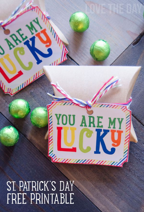 Adorable St. Patrick's Day You Are My Lucky free printable