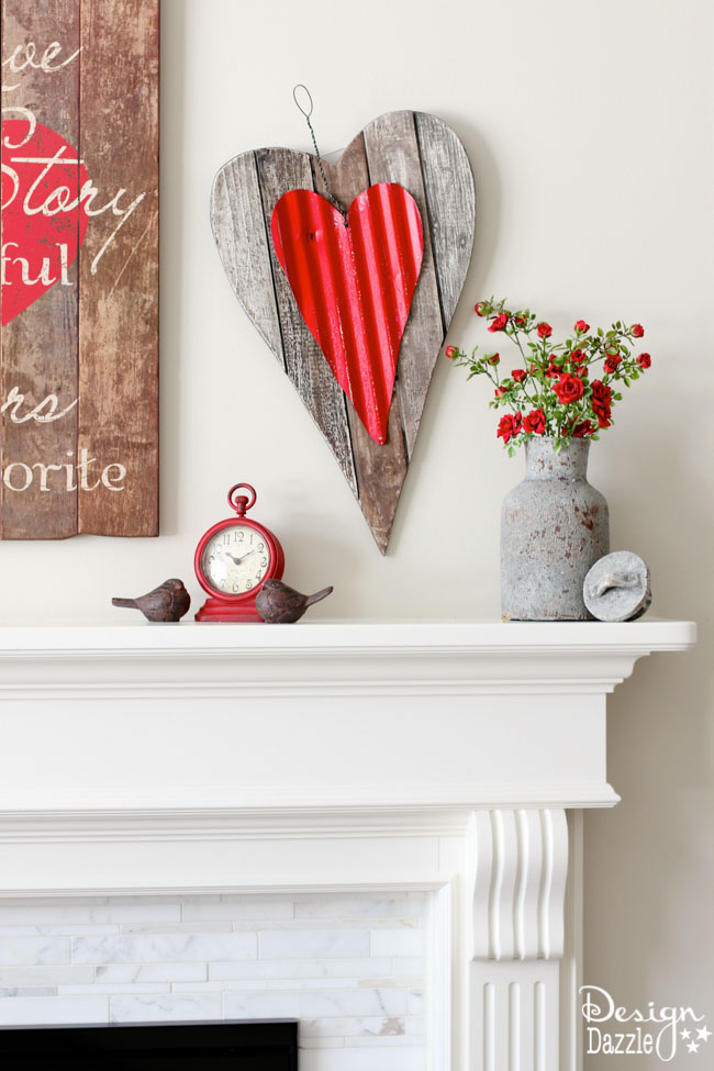 Valentine Mantel decorating ideas! Design Dazzle
