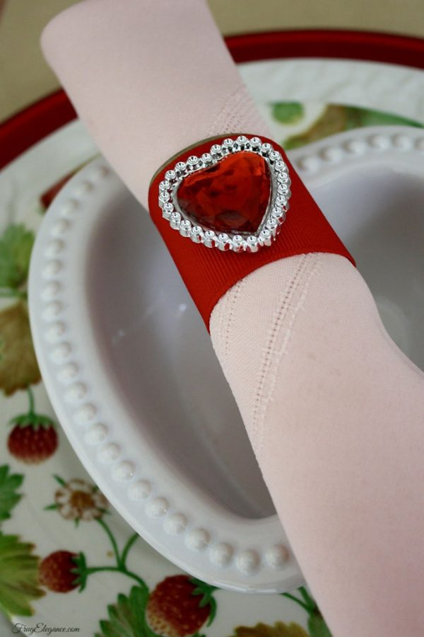 DIY Romantic Napkin Rings for a Valentine's Day Table!