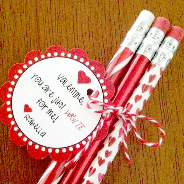 Valentines Day You are just Write for me tag created and designed by BellaGrey Designs