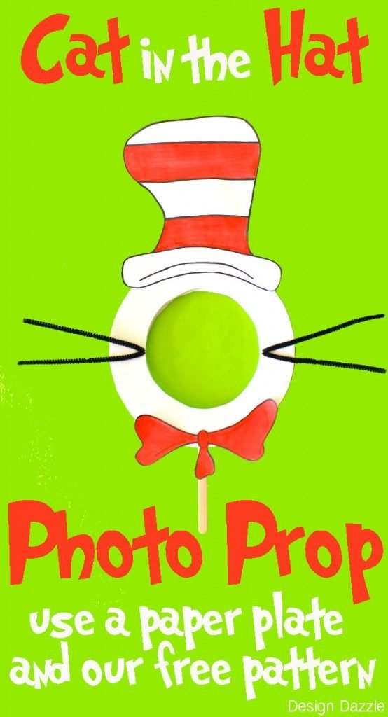 Cat in the Hat paper plate craft! Fun DIY craft to celebrate Dr. Suess' Birthday!