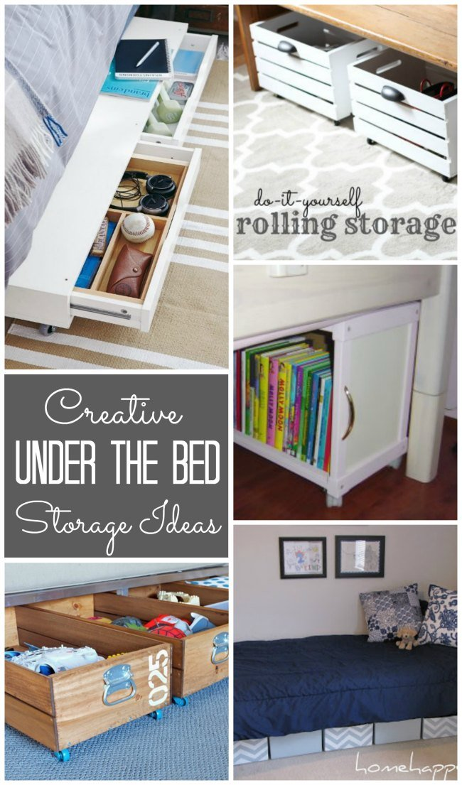Lots Of Creative U0026 DIY Underbed Storage Ideas Here!