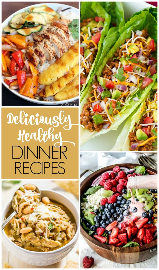 Deliciously healthy dinner recipe ideas to keep you keep on track with your health fitness goals!