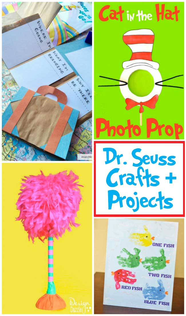 Fun collection of Dr. Seuss crafts & projects to celebrate Dr. Seuss' birthday on March 2nd