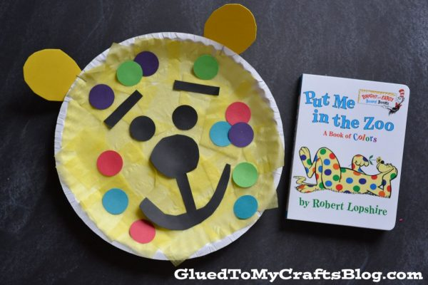 Leopard Craft for kids to celebrate Dr. Suess' Birthday! Super cute and easy paper plate craft for kids!